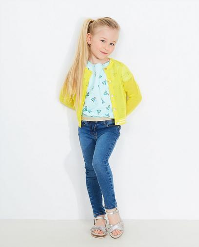 Gele glittercardigan